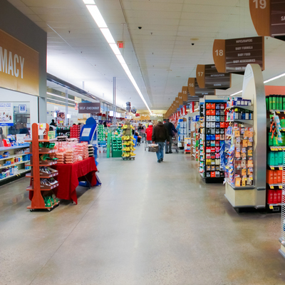 Display in Grocery Store Perimeter Location